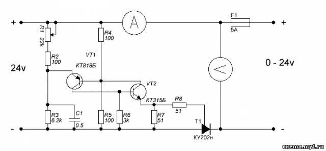 Регулируемые БП на 2-х транзисторах CVAVR AVR CodeVision cvavr.ru
