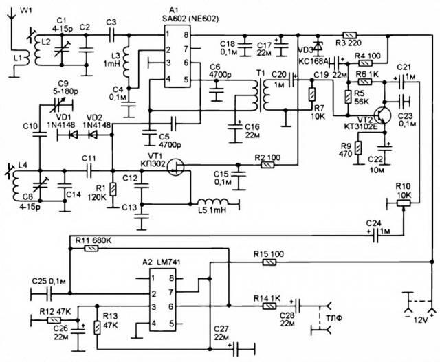 Этот несложный КВ приемник можно использовать для приема SSB и CW радиостанций в любом из пяти диапазонов, - 80М, 40М...