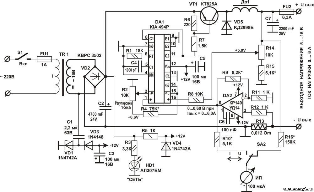 Автомобильное зарядное устройство своими руками на tl494