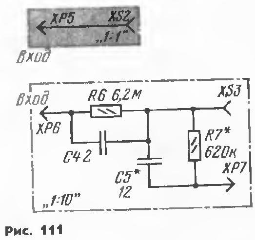 XS2 с вилкой ХР1 щупа.