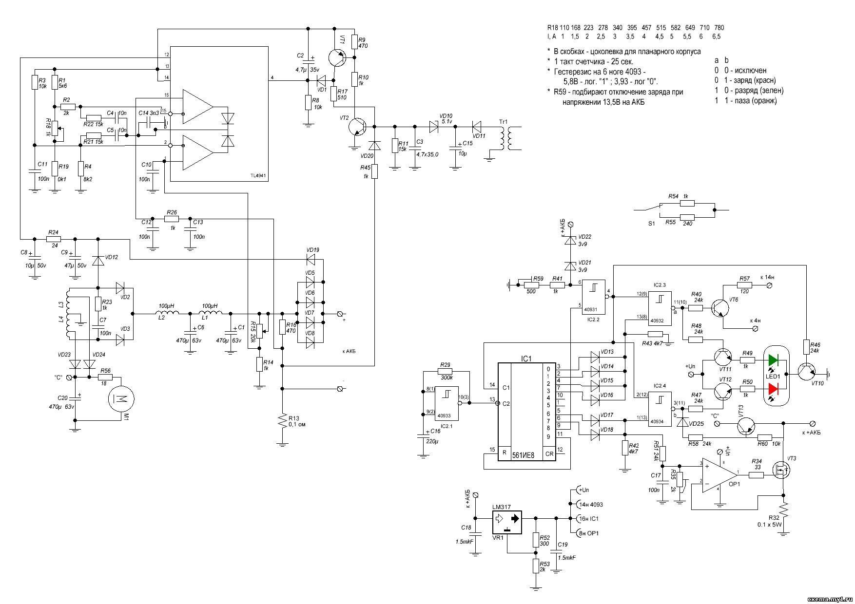 Схема устройств и блок схемы