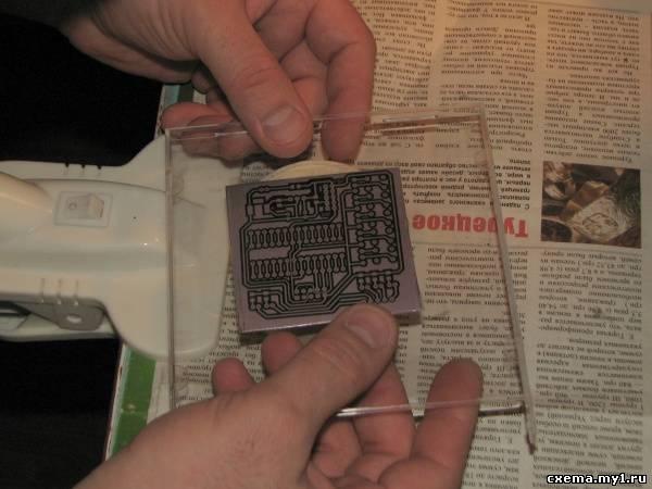 Пленочный фоторезист. Изготовление печатных плат в домашних условиях.