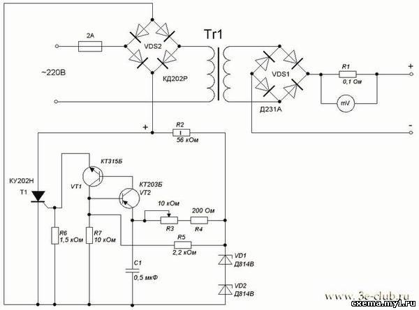 схему зарядного устройства