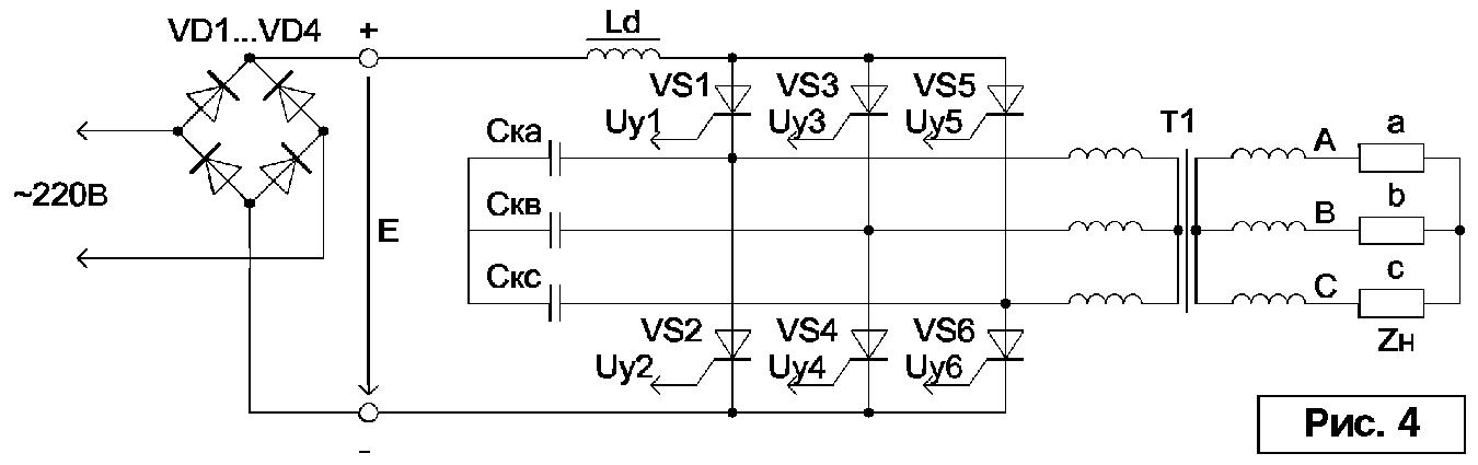 Ld ток инвертора Id можно
