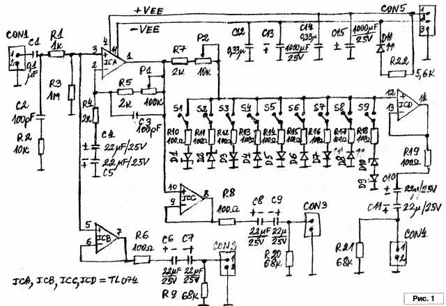 Универсальный предусилительи дисторнш для электрогитары или скрипки CVAVR AVR CodeVision cvavr.ru
