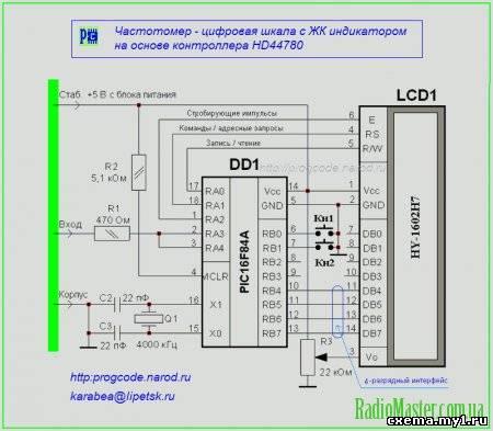 Схема частотомера - цифровой