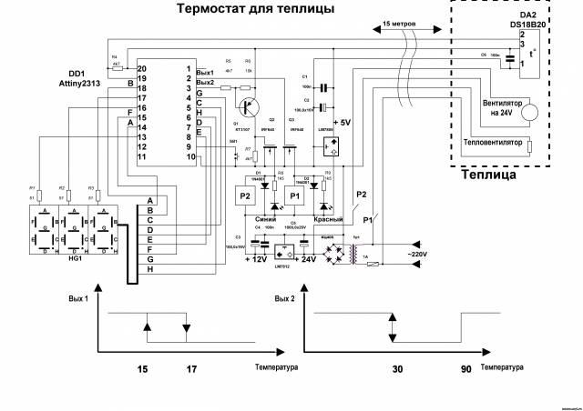 Терморегулятор своими руками для теплицы