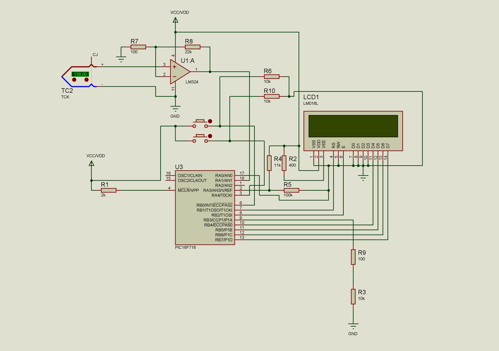 схема паяльной станции на микроконтроллере с дисплеем