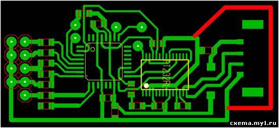 Программатор USB STK-500
