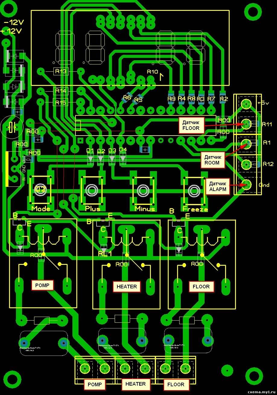 схема термометра для инкубатора на pic16