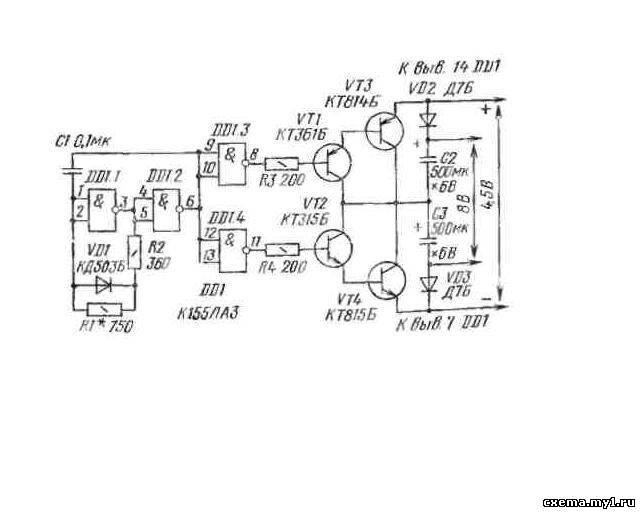 на микросхема К155ЛА3.