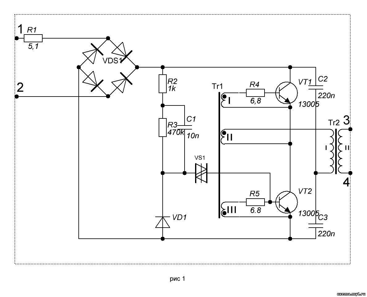 taschibra электронный трансформатор схема подключения