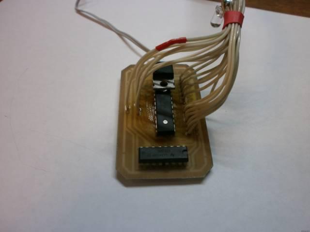 Самодельная гирлянда для мини ёлки из 21 светодиода