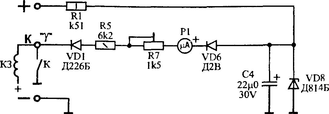 Схема измерения угла ЗСКП.