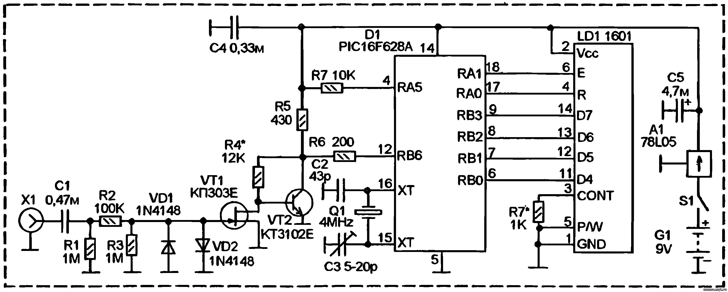 Схема частотомер своими руками