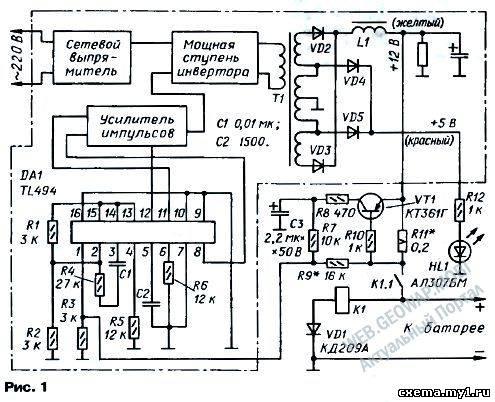 Компьютерный блок питания — зарядное устройство