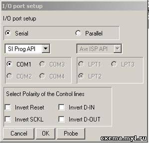 Простой программатор для программирования микроконтроллеров AVR через COM порт