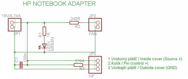 Схема блоков питания для ноутбуков HP