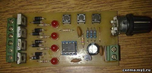 Контроллер шагового двигателя на PIC12F629