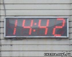 Уличные светодиодные часы-термометр на Attiny2313