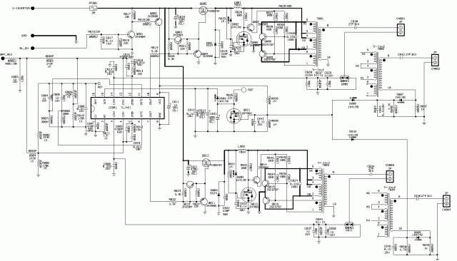 Схема инвертора монитора Benq