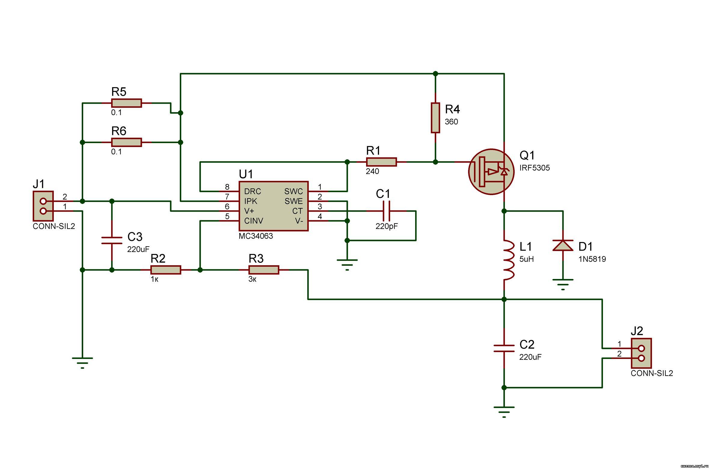 Импульсный стабилизатор 12 вольт напряжения