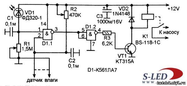 Схема автомата полива CVAVR AVR CodeVision cvavr.ru