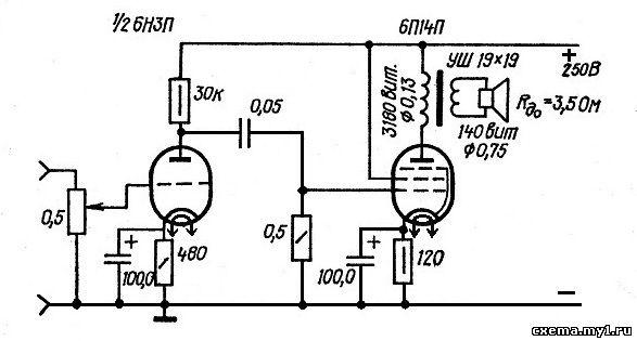 Усилители на лампах, схемы и описания ламповых УНЧ