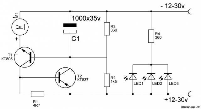 Цветомузыка на транзисторе КТ815. Схемы для начинающих ...