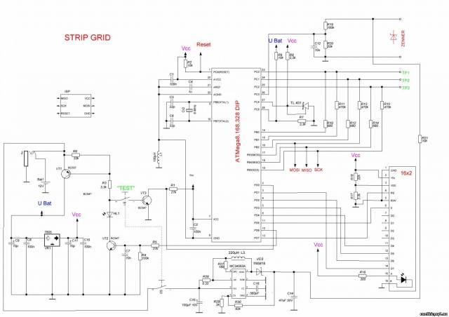 Схема тестер atmega328