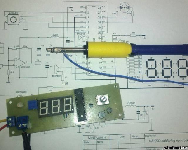 Контроллер паяльника Hakko FM-2028 с энкодером