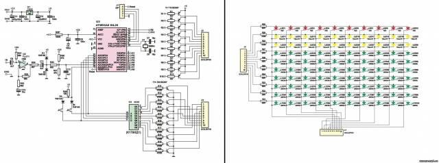 Спектроанализатор на светодиодах. CVAVR AVR CodeVision cvavr.ru