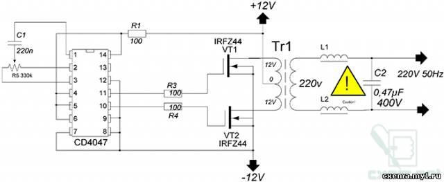 Простой ПН 12-220 50Гц CVAVR