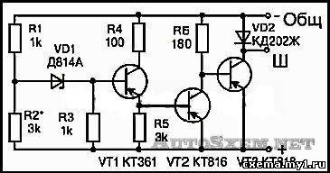 Регулятор напряжения генератора своими руками схема 54