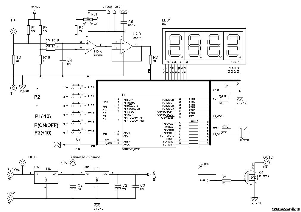 Операционный усилитель LM358 и