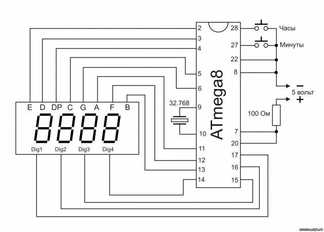 часовой кварц (32768 Гц