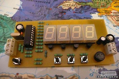 ЧАСЫ С ТЕРМОМЕТРОМ НА pic16f628a CVAVR AVR CodeVision cvavr.ru