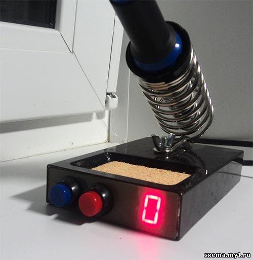 Регулятор температуры для паяльника на 12 вольт с индикацией уровня на семисегментном индикаторе