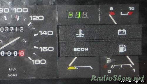 Цифровой термометр-термостат для приборной панели автомобиля на PIC16F628A и датчике DS18B20