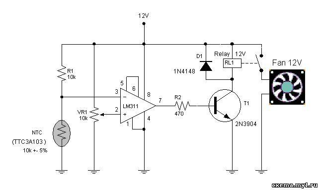 Схема регулятора оборотов для компьютера