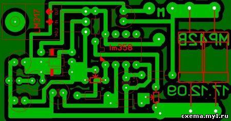 Схема регулятора оборотов микродрели (двигателя)