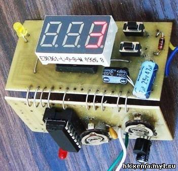 Контроллер больших температур на термопаре K-типа. PIC16F676