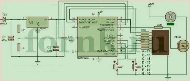 ШИМ регулятор оборотов двигателя постоянного тока на PIC16f628