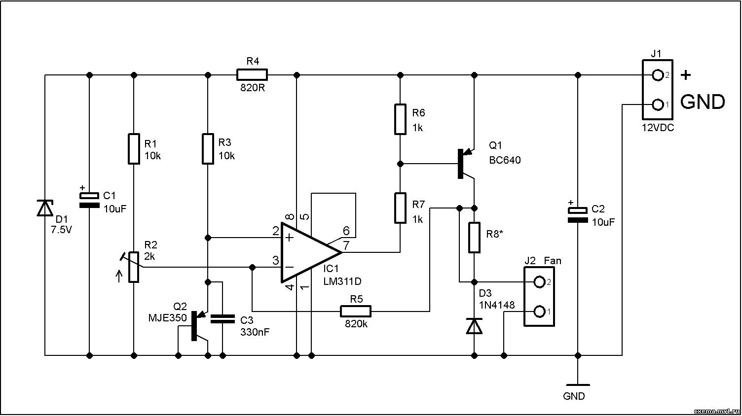 Схема регулятора оборотов вентилятора фото 576