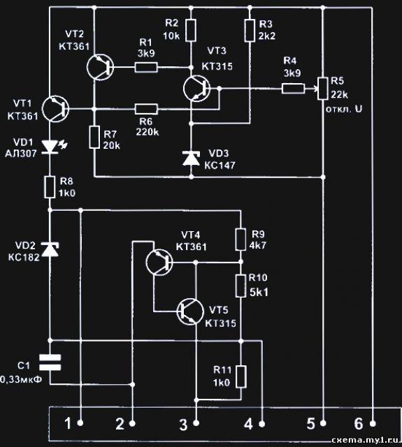 схема для зарядное устройство для авто