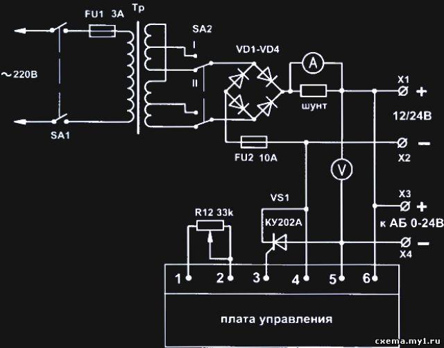 Принципиальная схема вса-6к