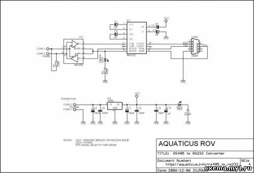 Схемы переходников RS232 <->