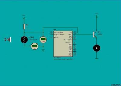 Управление электродвигателем с помощью света