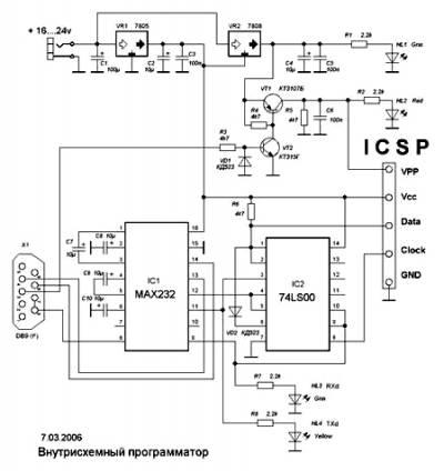 Внутрисхемный программатор для pic-контроллеров и i2c eprom CVAVR AVR CodeVision cvavr.ru