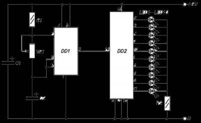 Бегущие огни на 10 ти светодиодах № 1 CVAVR AVR CodeVision cvavr.ru